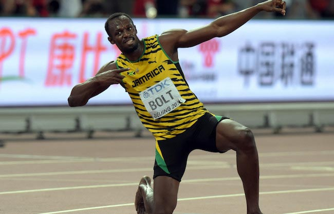 Usain-Bolt-celebrating-his-victory-after-a-match-win